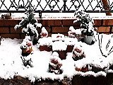 雪化粧した小人たち